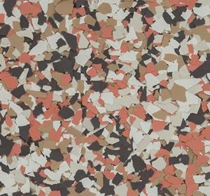 Flake flooring color sample - Burlwood