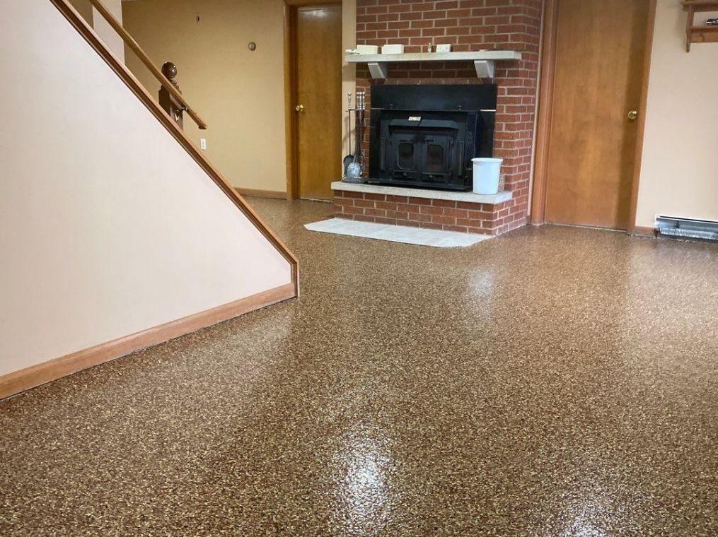We do basements too. Custom basement flake flooring.