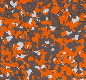 Flake flooring color sample - Cleveland Chomps.
