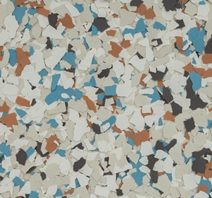Flake flooring color sample - Coldwater Canyon