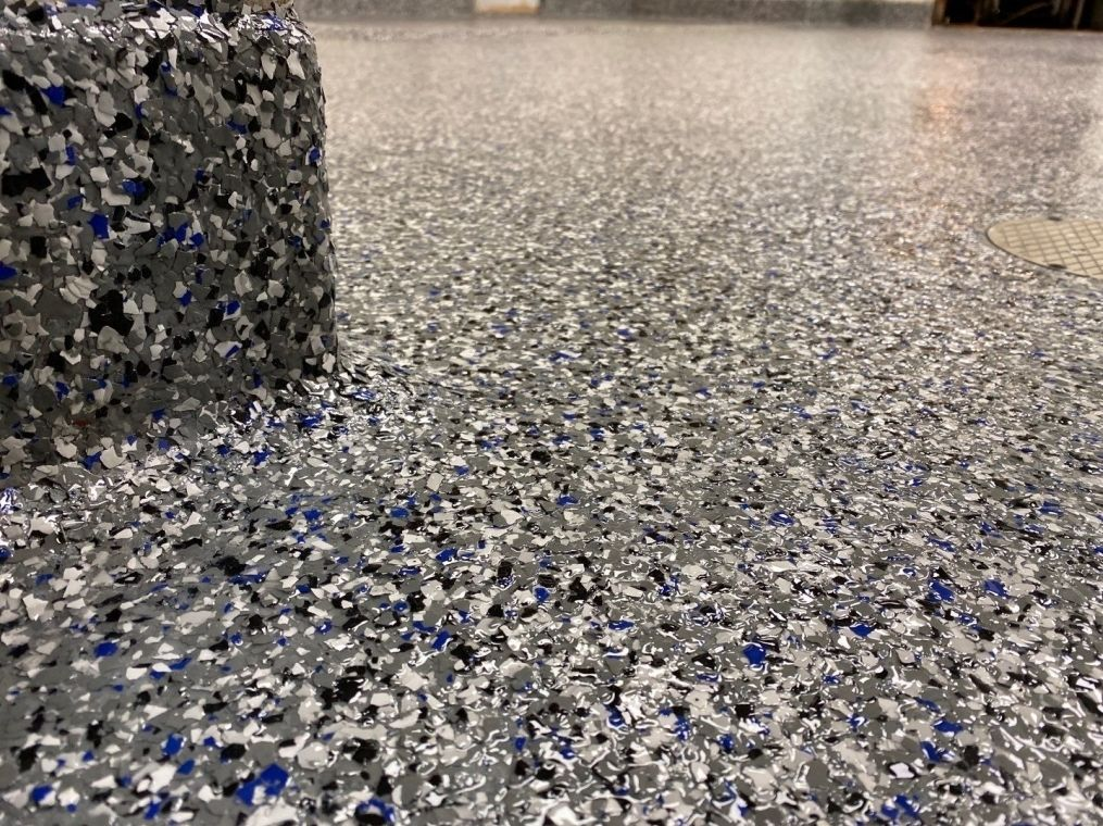 Up Close of a commercial flooring with Polyurea.