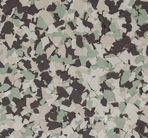Flake flooring color sample - Dahlia.