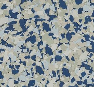 Flake flooring color sample - Dory.
