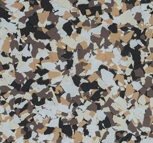 Flake flooring color sample - Eslair.
