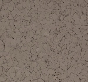 Flake flooring color sample - adobe beige.