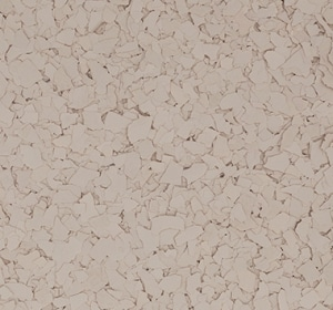 Flake flooring color sample - beige.