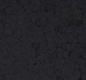 Flake flooring color sample - black.