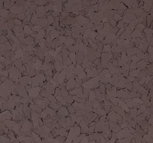 Flake flooring color sample - brown