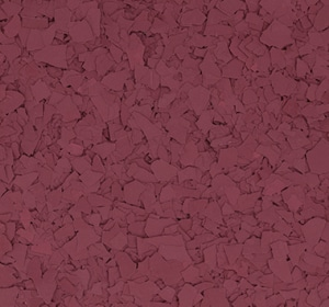 Flake flooring color sample - burgundy.