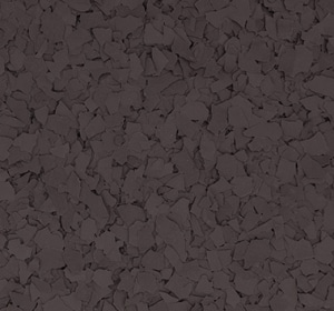 Flake flooring color sample - Cocoa Brown.