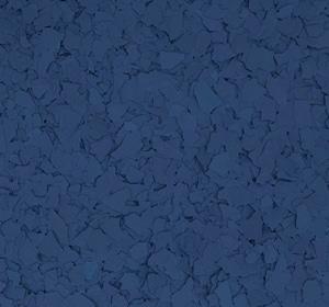 Flake flooring color sample - Dark Blue.