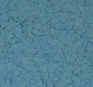 Flake flooring color sample - Dusk Blue.