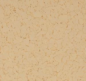 Flake flooring color sample - gold.