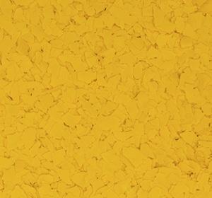 Flake flooring color sample - Yellow.