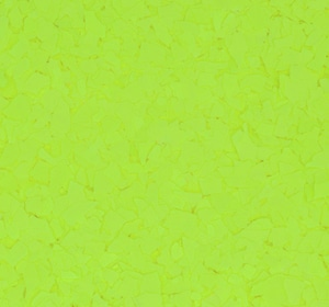Flake flooring color sample - Chartreuse.