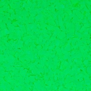 Flake flooring color sample - Signal Green.
