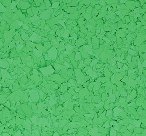 Flake flooring color sample - Lime
