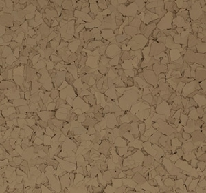 Flake flooring color sample - Putty.
