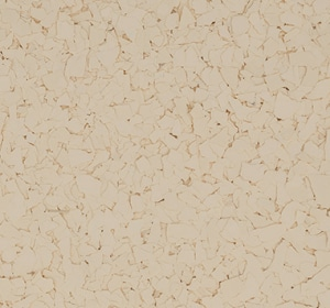 Flake flooring color sample - Cornmeal.