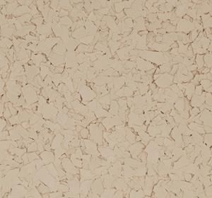 Flake flooring color sample - Cardboard.