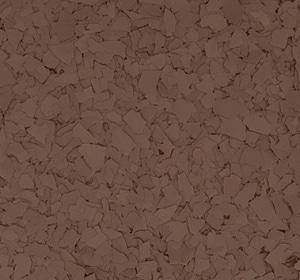Flake flooring color sample - Mud.