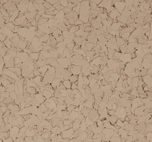 Flake flooring color sample - Camelback
