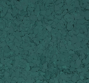 Flake flooring color sample - Evergreen.