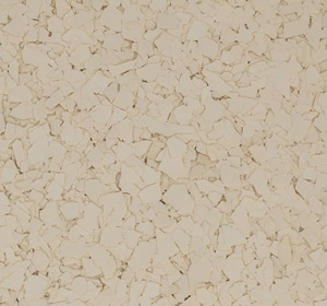 Flake flooring color sample - Cream
