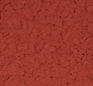 Flake flooring color sample - Terra Cotta.