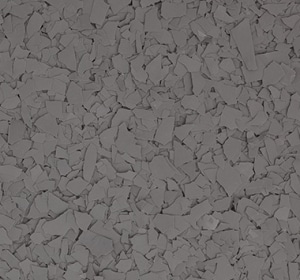 Flake flooring color sample - Dolphin