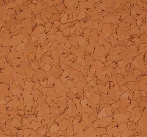 Flake flooring color sample - Carrot Cake