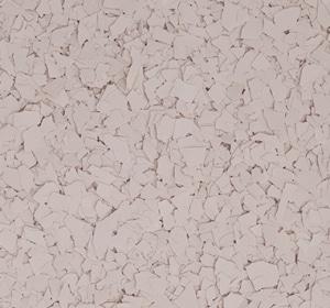 Flake flooring color sample - Flesh.