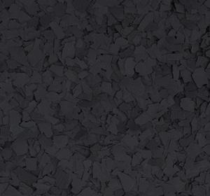Flake flooring color sample - Black Iron Oxide.