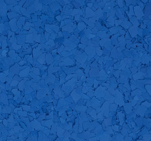 Flake flooring color sample - Blue ox.