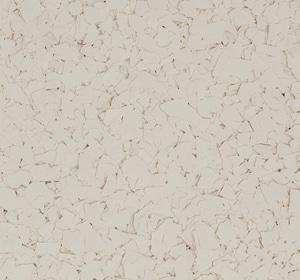 Flake flooring color sample - Sugar Cookie.