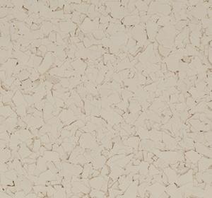 Flake flooring color sample - Buttermilk.