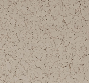 Flake flooring color sample - Fossil.