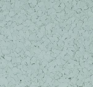 Flake flooring color sample - Honeydew.