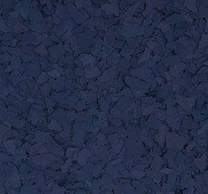 Flake flooring color sample - Navy.