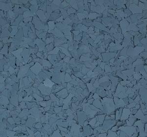 Flake flooring color sample - Moody Blue.