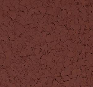 Flake flooring color sample - redwood.