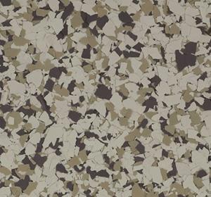 Flake flooring color sample - fern.