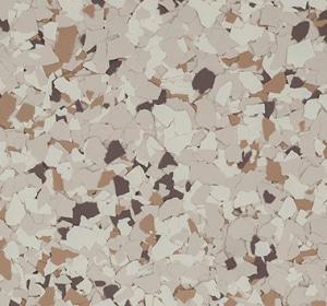 Flake flooring color sample - basset.
