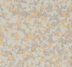 Flake flooring color sample - finch