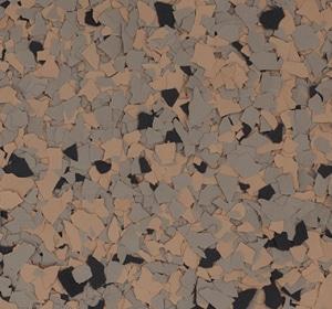 Flake flooring color sample - mudslide.