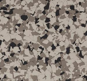 Flake flooring color sample - mink.