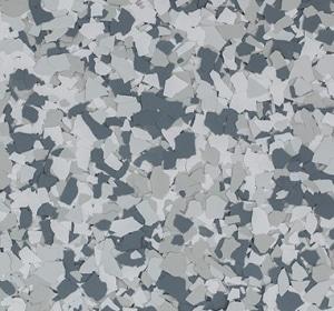 Flake flooring color sample - bandit.