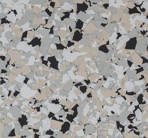 Flake flooring color sample - cabin fever.