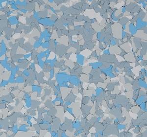 Flake flooring color sample - cashmere.