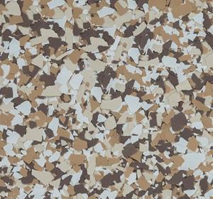 Flake flooring color sample - terrier.